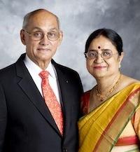Kalyan Banerjee, 2011-12 RI president, and his wife, Binota.